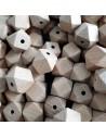 Hexágono de madera sin lacar 14mm