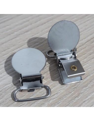 Clip redondo metal para cinta