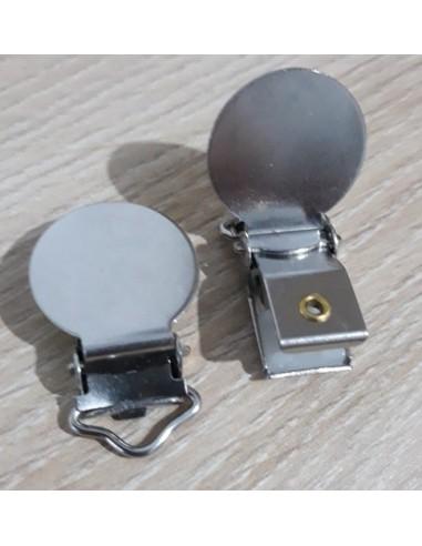 Clip redondo metal para cordón