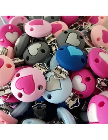 Clip silicona corazón