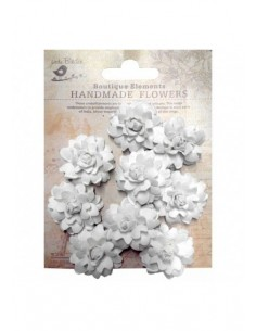 Flores de papel Boutique Elements rosas blancas