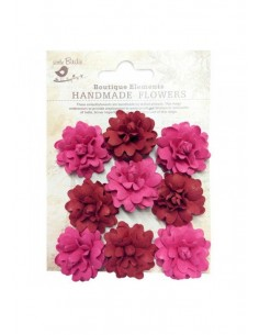 Flores de papel Boutique Elements rosas rojas