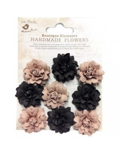 Flores de papel Boutique Elements rosas marrones