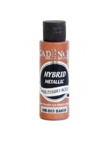 Pintura multisuperfircies hybrid metalizada cobre