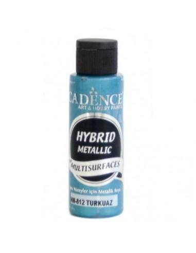 Pintura multisuperficies hybrid metalizada turquesa