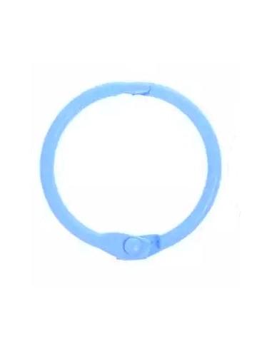 Anillas encuadernar azules 25mm (8 unidades)