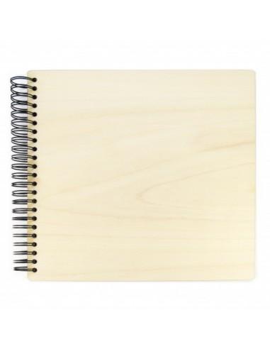Álbum scrap 30x30cm tapa madera