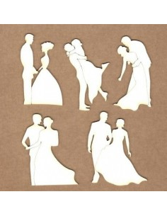 Chipboard Poses de enamorados