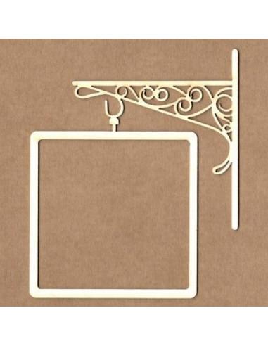 Chipboard marco cartel cuadrado