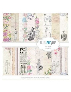 kits papeles Ladies & Flowers