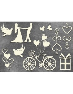 Set Chipboard novios