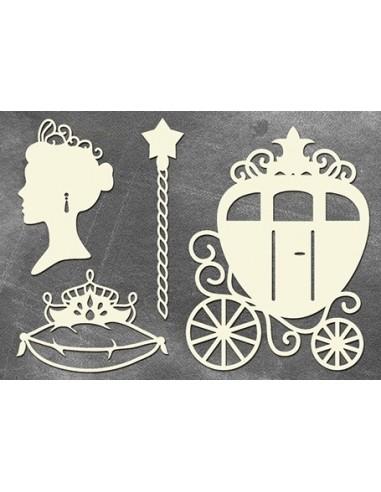 Set Chipboard princesa