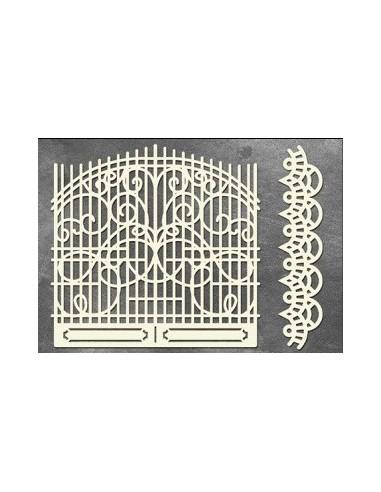 Set Chipboard puerta rejas