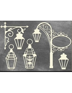 Set Chipboard farolas