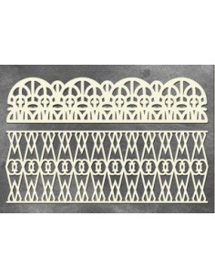 Set Chipboard rejas vintage