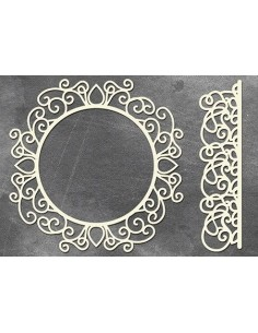 Set Chipboard marco decorado