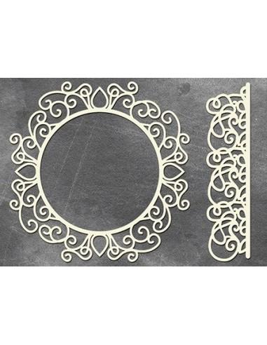 Set Chipboard marco decorado