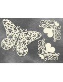 Set Chipboard mariposa vintage