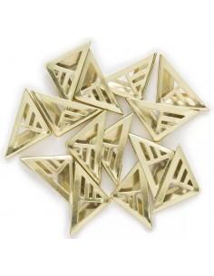 Cantoneras 23x16mm dorado