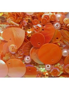 Lentejuelas formas mix orange