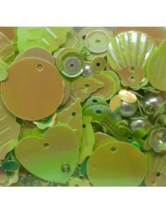 Lentejuelas formas mix green