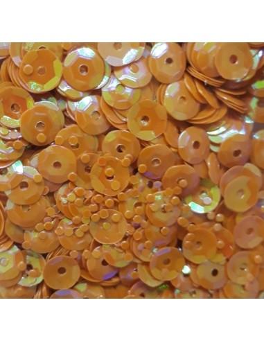 Lentejuelas irisadas orange