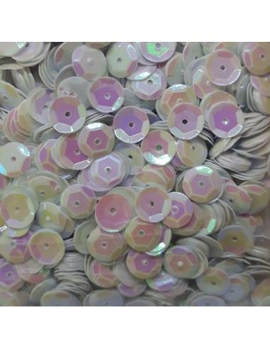Lentejuelas irisadas white