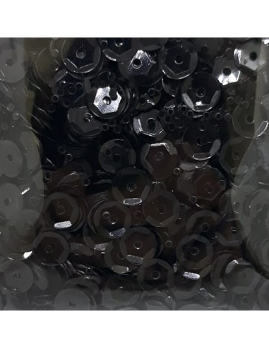 Lentejuelas brillantes negro