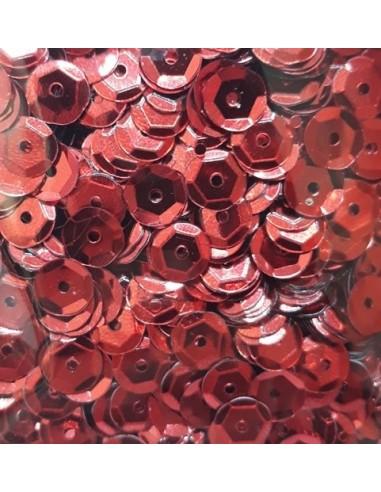 Lentejuelas brillantes rojo