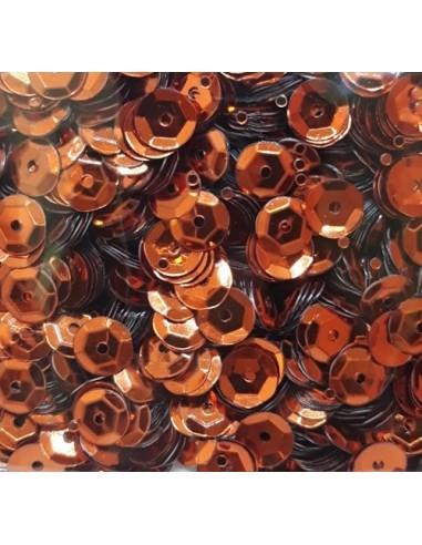 Lentejuelas brillantes cobre