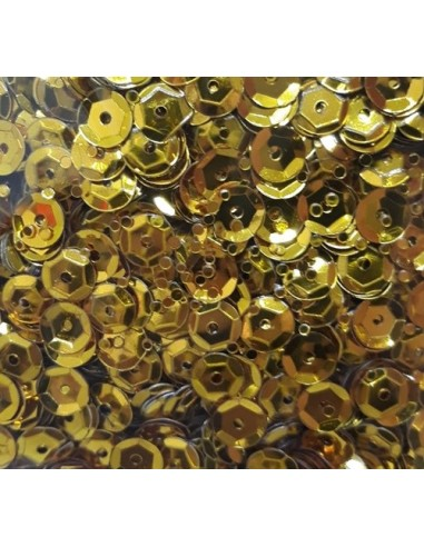Lentejuelas brillantes oro