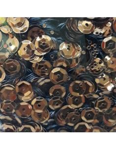 Lentejuelas brillantes marrón