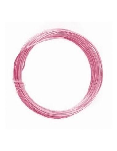Alambre de aluminio 1mm rosa claro