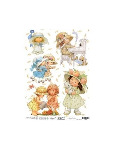 Papel de Arroz Soft 30x41cm. Decoupage PA0505