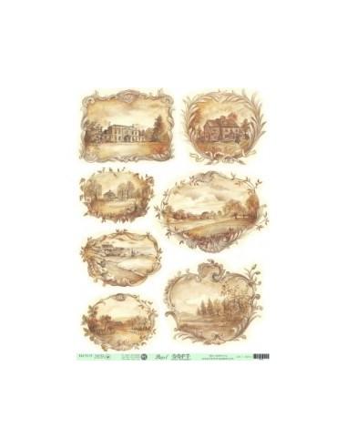 Papel de Arroz Soft 30x41cm. Decoupage PA0418