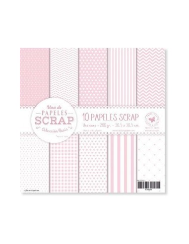 Set 10 papeles scrapbooking 30,5x30,5cm. PS9011