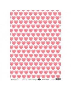 Papel cartonaje 32x45cm corazones. PD00147