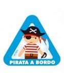 Pegatina para coche Pirata a bordo