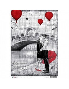 Papel de arroz A4 Love in Venice - Ciao Bella