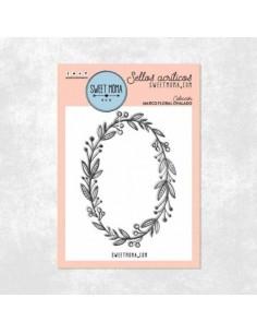 Sello marco floral ovalado - Sweet Möma