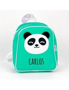 Mochila personalizada Panda menta