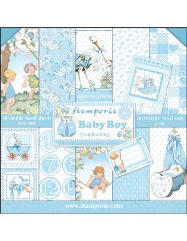 Kit papeles Stamperia Baby boy