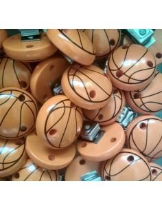 Clip madera premium baloncesto