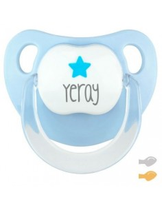 Chupete personalizado baby deco estrella azul