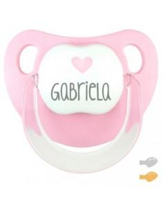 Chupete personalizado baby deco corazón rosa