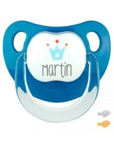 Chupete personalizado baby deco corona denim