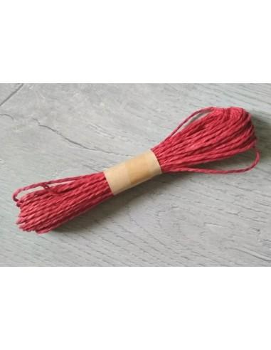 cuerda de rafia lisa rojo