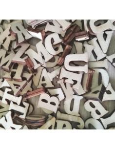 Letras de madera 2cm...