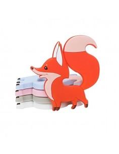 Mordedor de silicona zorro