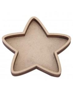 Shaker de madera estrella...